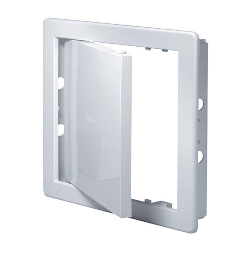 White Access Panel Inspection Hatch ABS Plastic Revision Door 300mm x 300mm (12