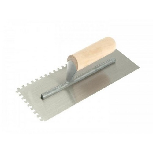 RST RTR153DS Square Notched Trowel Wooden Handle 11inch X 4.1/2inch