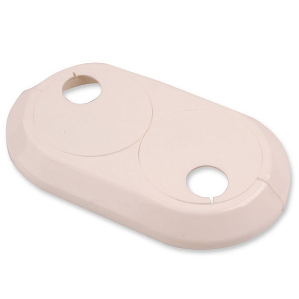 18mm Double Pipe Cover PVC White Radiator Plastic Water Collar Rose