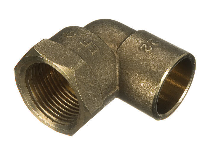 Endfeed Female Iron Adaptor Bent - 15mm x 1/2andquot;