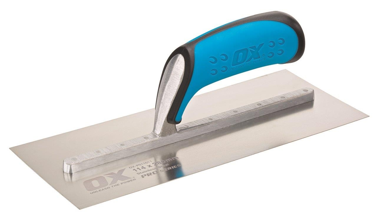 OX Pro Plasterers Trowel with Duragrip Handle Stainless Steel