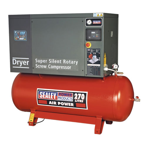 Sealey SSC12710D 270ltr Low Noise Screw Compressor 10hp 3ph With Dryer