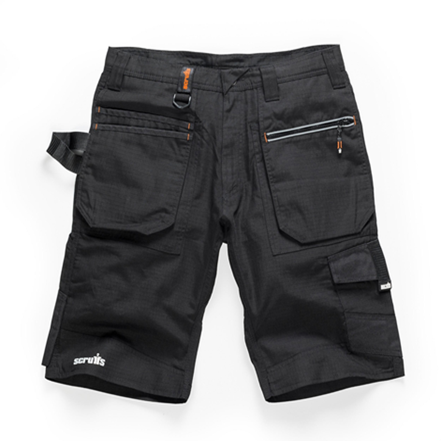Scruffs Ripstop Trade Cargo Work Shorts with Multiple Pockets Black Men's Combat