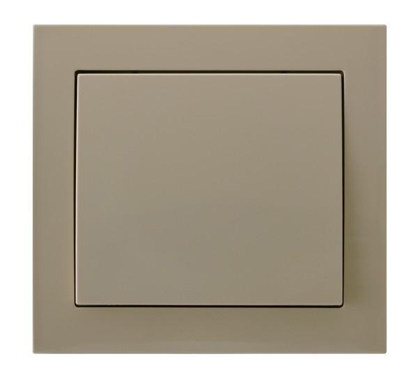 Beige Single Button Indoor Light Switch Click Wall Plate