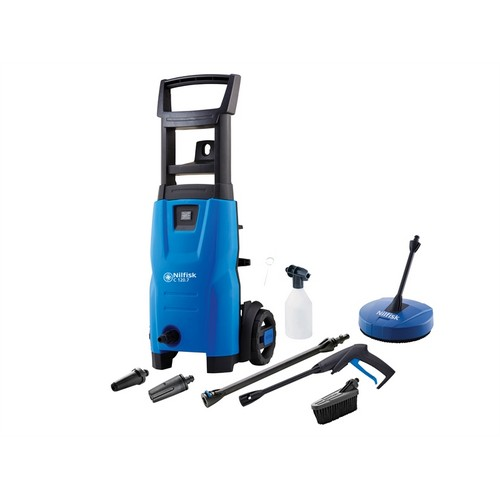 Kew Nilfisk Alto 128471008 C120.7-6 PCA X-TRA Pressure Washer With Patio Cleaner & Brush 120 Bar 240 Volt