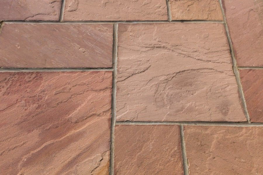 Modak 22mm Thick Bright Pink/Red/Brown Sandstone Patio 15.50 Sqm Pack