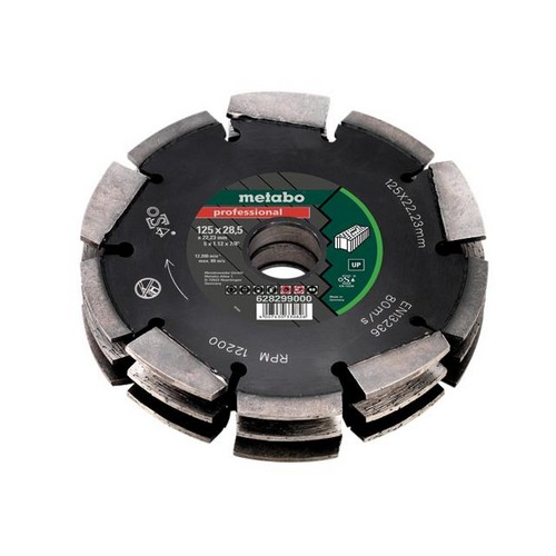 Metabo 628299000 3 Row Professional UP Wall Chaser Blade 125 X 28.5 X 22.23mm