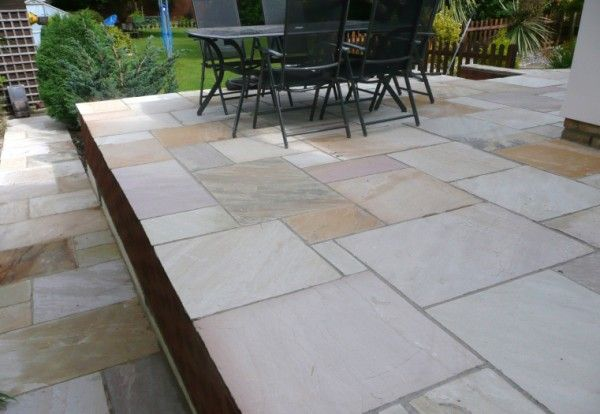 Fossil Mint Indian Sandstone Natural Calibrated Patio Paving Slabs Pack 15.5m2 22mm