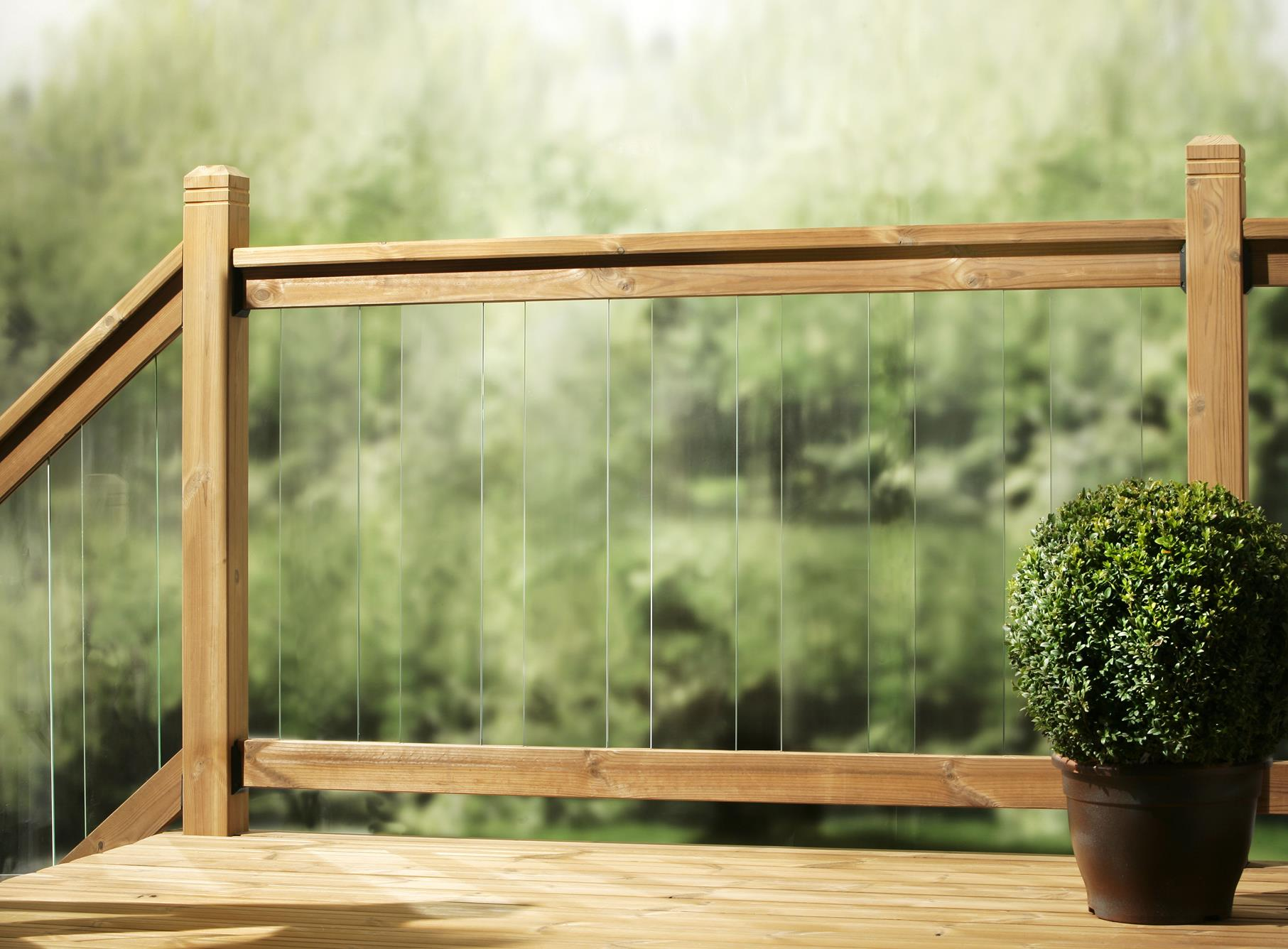 Clearview Glass Decking Balustrade Kit