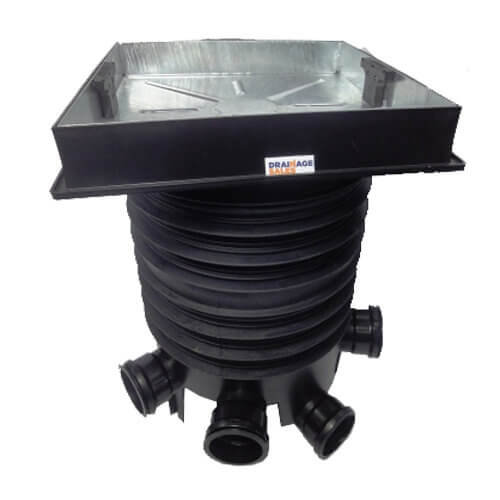 Inspection Chamber Complete Set With 80mm Deep Block Paviour/ Paving Slab Cover - 450mm Diameter