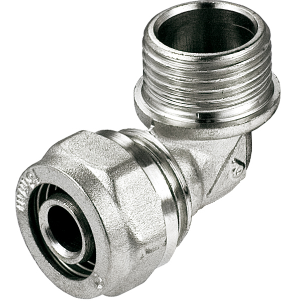 16mm x 1/2 Inch Male PEX Compression Fittings Elbow Pipe Connector