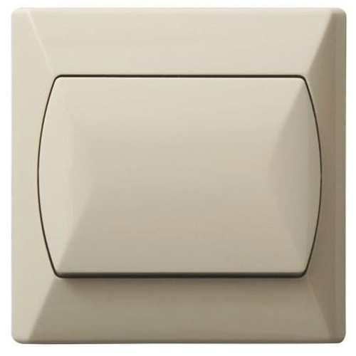 Simple Single Big Button Basic Indoor Light Switch Click Wall Plate Beige
