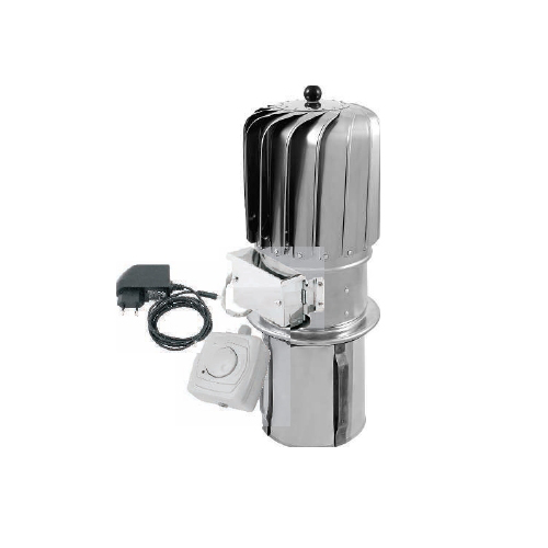 150mm Stainless Steel Turbowent Rotating Spinning Chimney Cowl Electric Motor