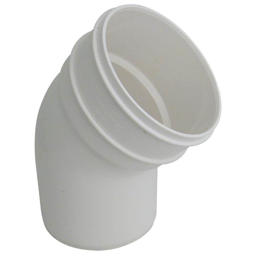 Industrial/ Xtraflo Downpipe Solvent Weld Offset Bend Bottom - 110mm White