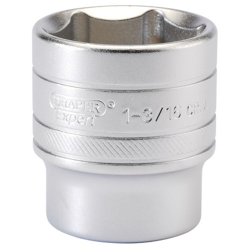Draper 16638 1/2inch Square Drive 6 Point Imperial Socket (1.3/16inch)