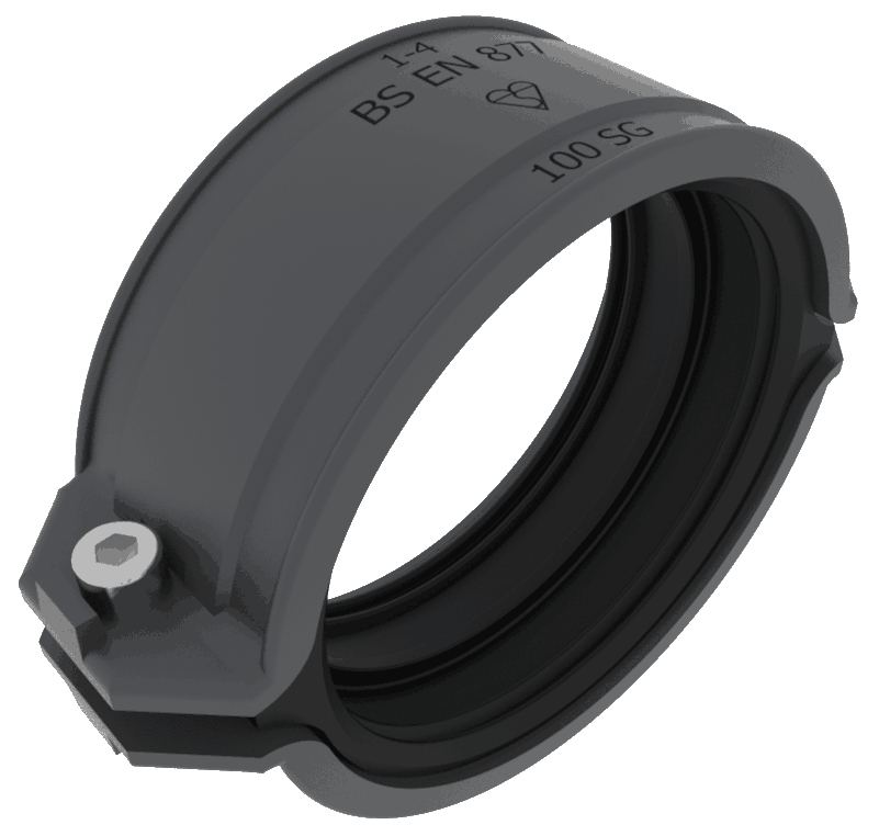 100Mm Coupling Two-Part Grey ED001