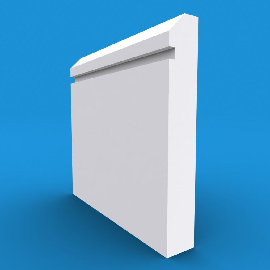 Edge Grooved MDF White Primed Skirting Board 4200mm x 120mm x 18mm