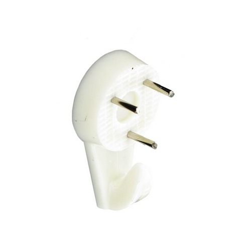 Securit S6208 Hard Wall Picture Hooks White 30mm Pack Of 3