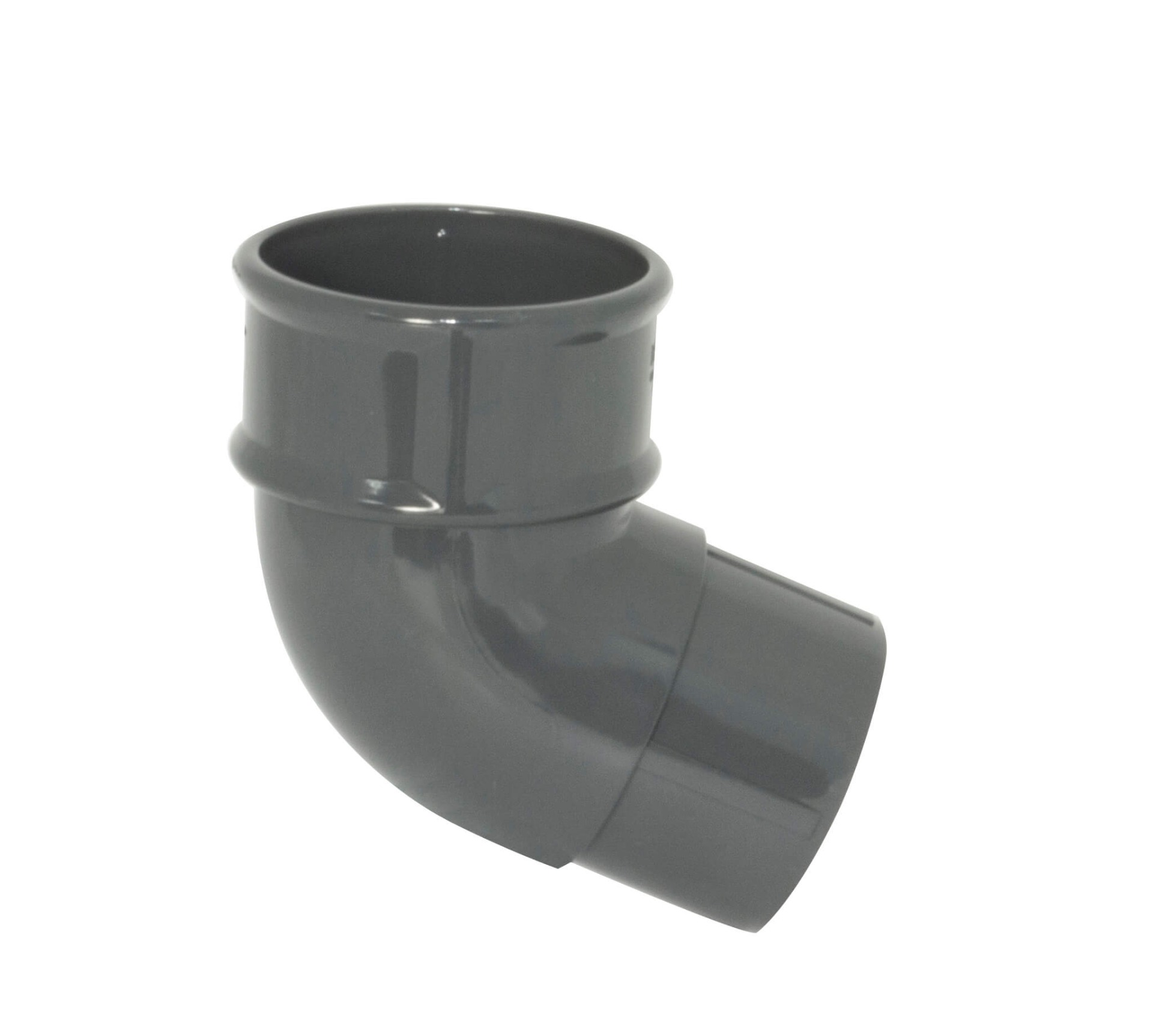 Round Downpipe Offset Bend - 112.5 Degree x 68mm Anthracite Grey