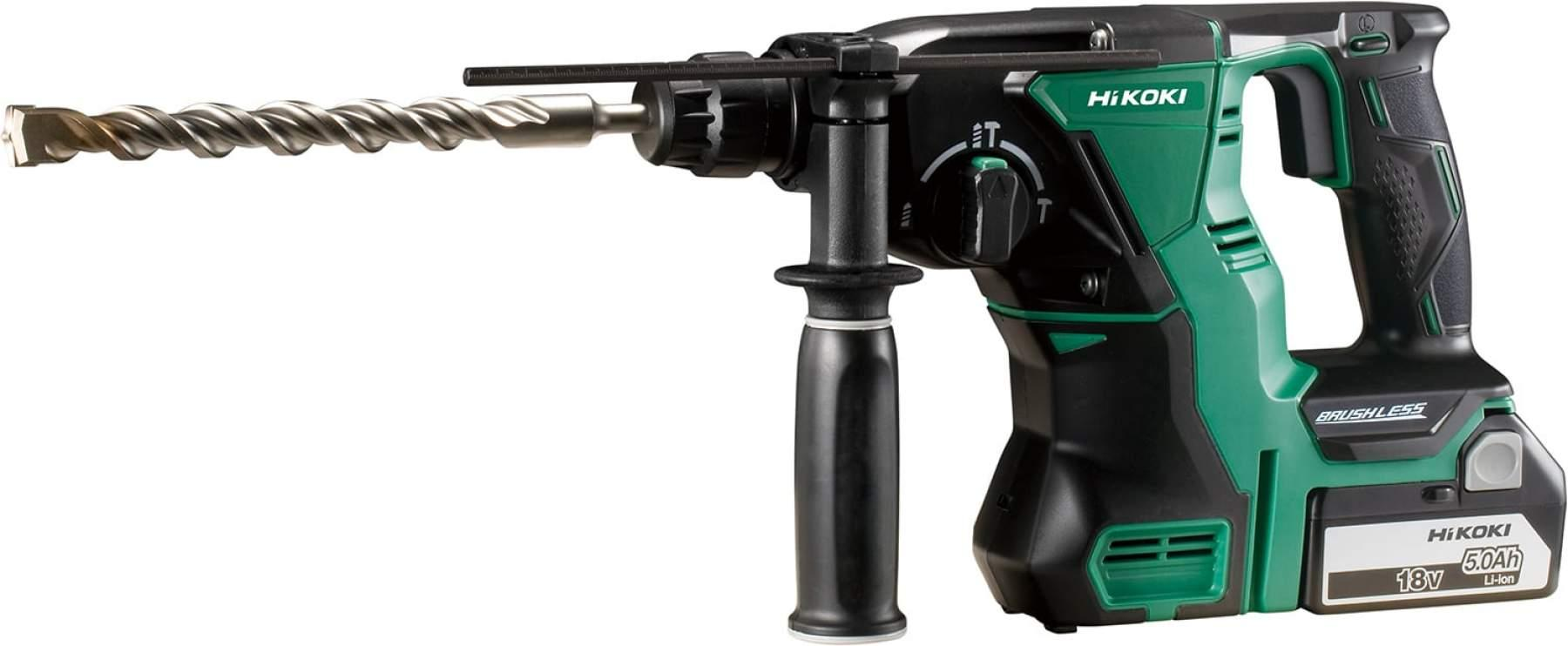 HiKOKI DH18DBL 18V Brushless SDS Plus Rotary Hammer Drill With 2 X 5.0Ah Batteries