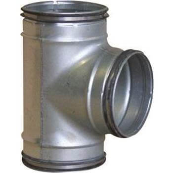 Easipipe Round Ventilation Duct Tee - 150mm