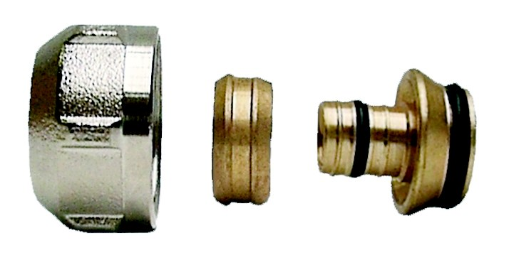 10 x 16mm x 3/4 Inch PEX Pipe Compression Fittings Adaptor Connector 10 Pack