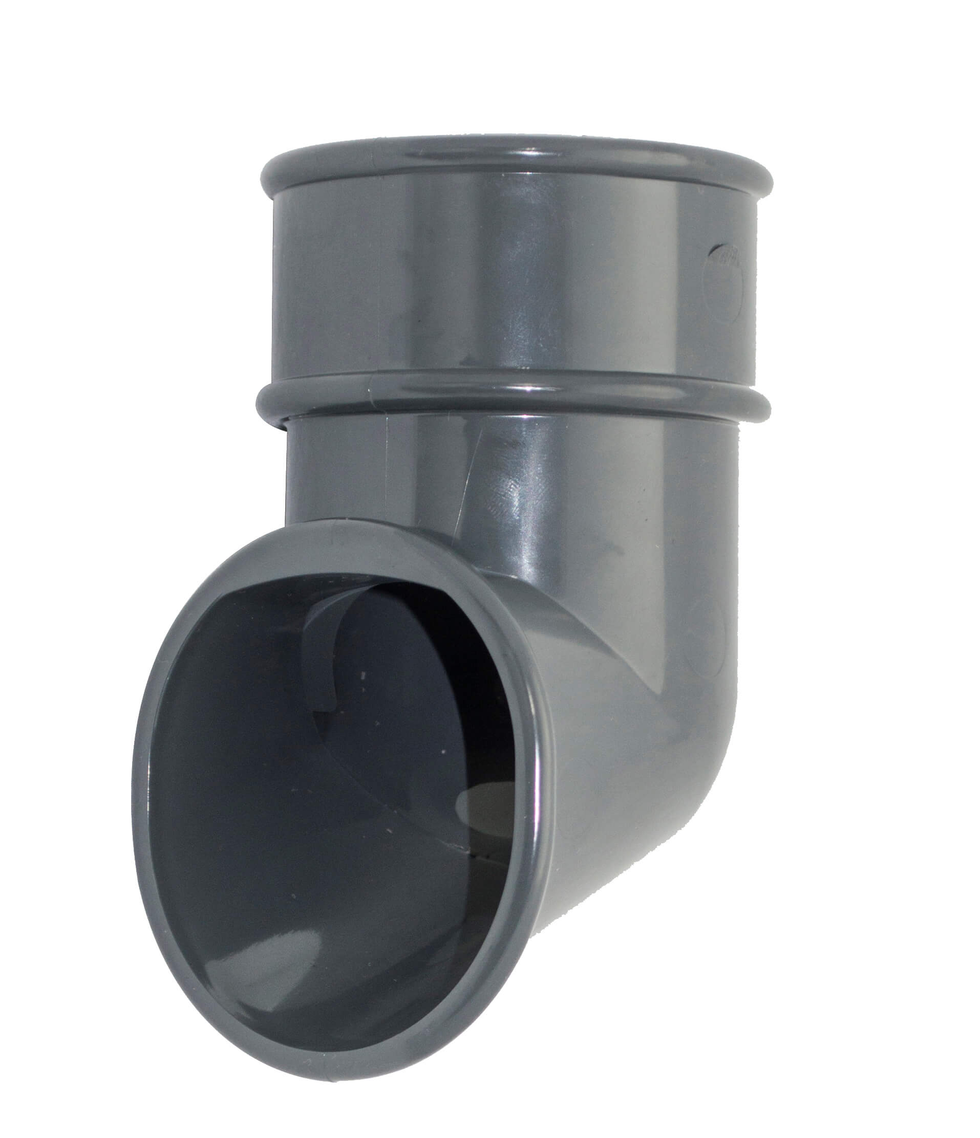 Round Downpipe Shoe - 68mm Anthracite Grey