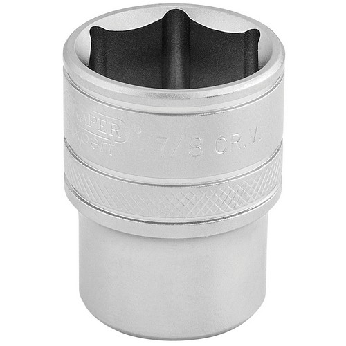 Draper 16632 1/2inch Square Drive 6 Point Imperial Socket (7/8inch)