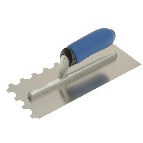 Vitrex 102906 Professional Notched Adhesive Trowel Round 20mm Stainless Steel 11in X 4.1/2in