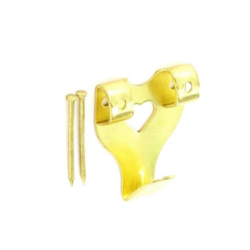 Securit S6202 Double Picture Hook Electro Brassed + Pins No 3 Pack Of 2