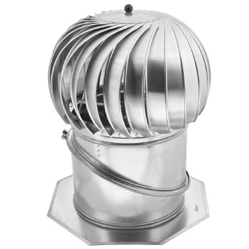 400mm Chimney Cowl Adjustable Base Stainless Steel Ventilation Rotowent