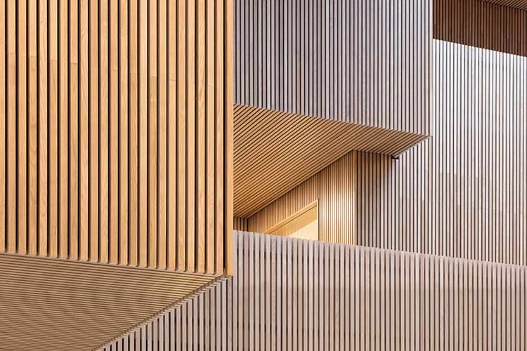 A Grade Siberian Larch Square Edge Cladding/Fencing Battens 45mm Thick