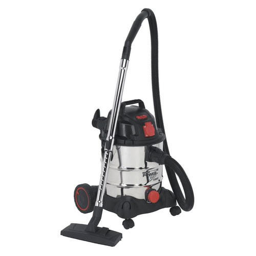 Sealey PC200SDAUTO 20ltr Wet & Dry Industrial Vacuum Cleaner 1400W With Stainless Bin & Auto Start