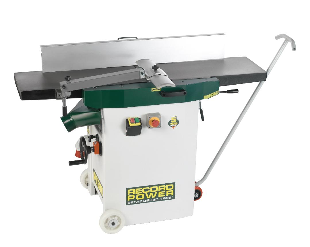 Record Power 48502 PT310 Heavy Duty Planer Thicknesser 400v With Digital Readout & Wheel Kit
