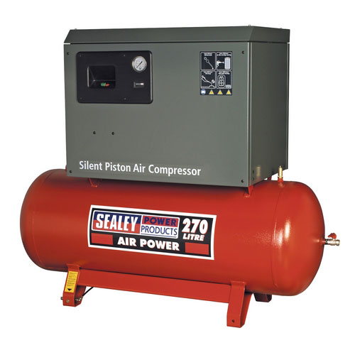 Sealey SAC72775BLN 270ltr Belt Drive Compressor 7.5hp 3ph 2-Stage With Cast Cylinders Low Noise