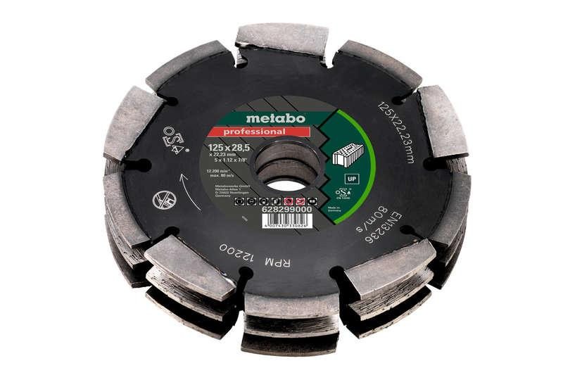 Metabo 125mmx28.5x22mm Diamond Blade For MFE40 Wall Chaser