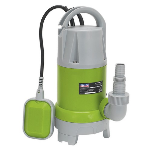Sealey WPCD215 Submersible Clean & Dirty Water Pump Automatic 217 Litre/min 230V