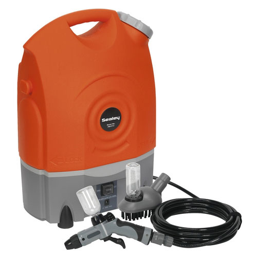Sealey PW1712 Rechargeable 12 Volt Jet Pressure Washer 17 Litre With Accessories