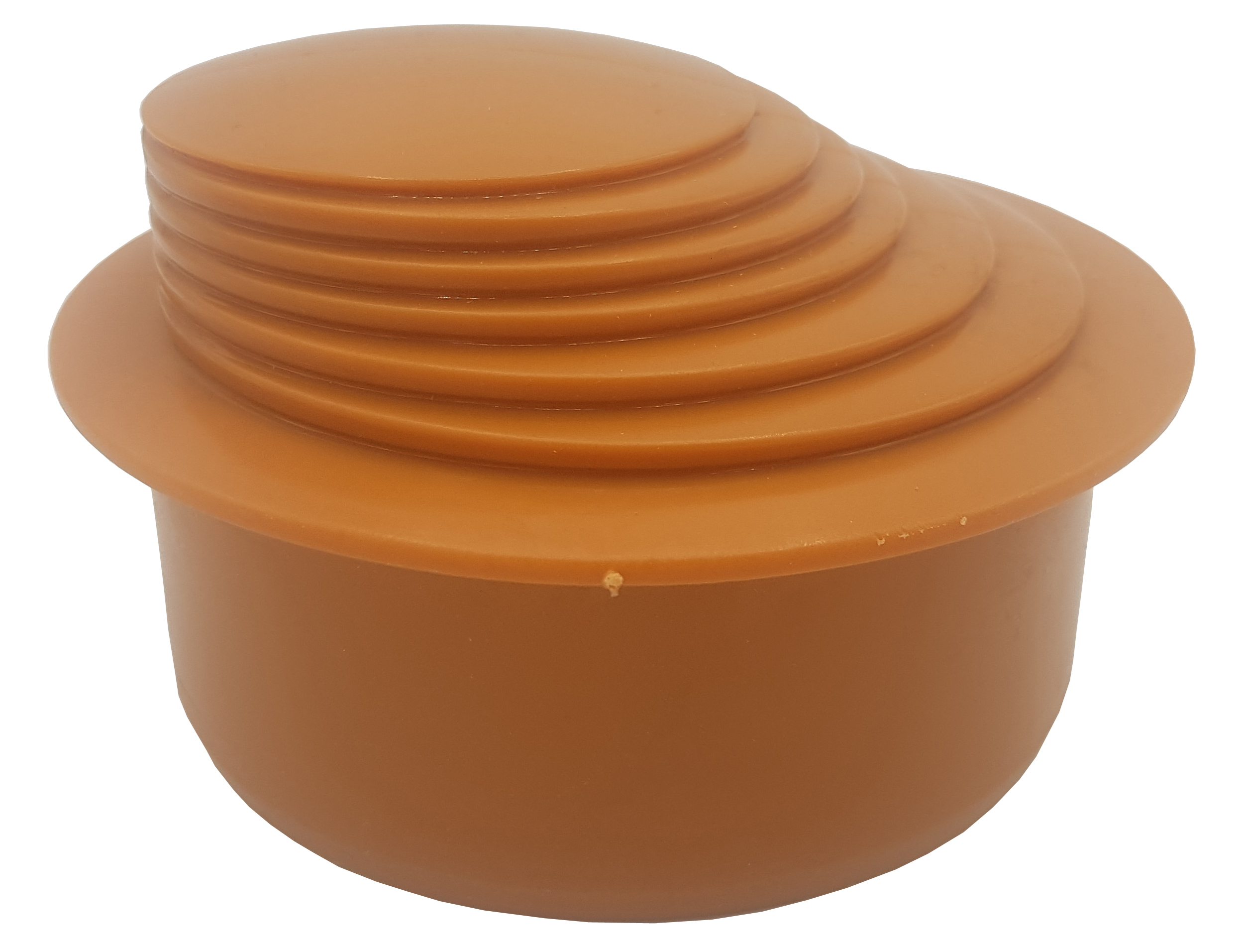 Brick Colour Gutter Down Pipe Reducer 110mm to Any Size Reduction Guttering