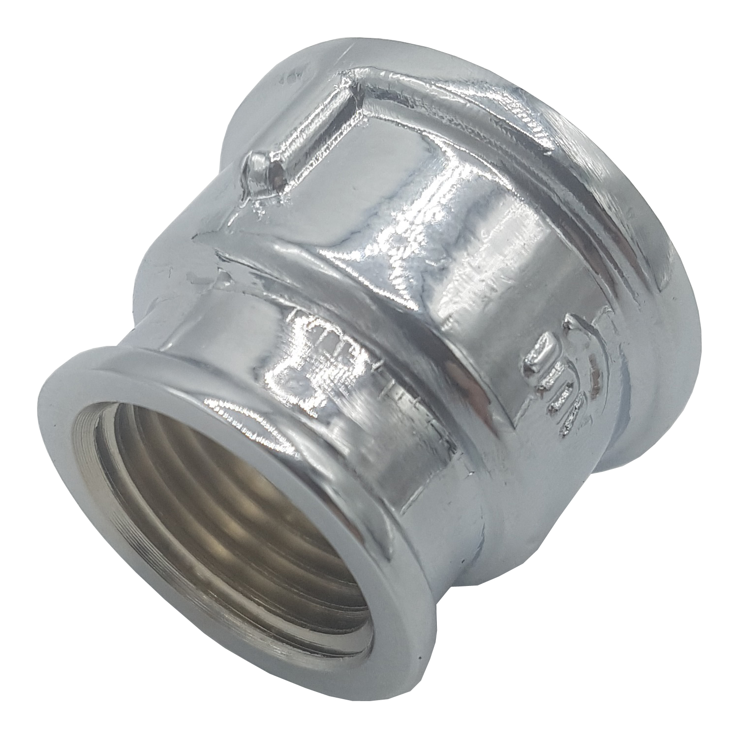3/4x1/2 Inch Pipe Connection Reduction Female Fittings Muff Chrome