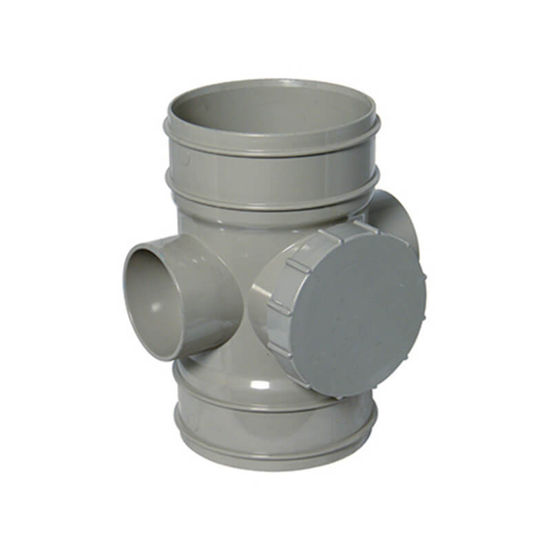Solvent Weld Soil Access Pipe - 110mm Olive Grey