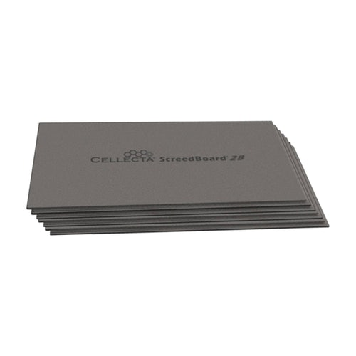 Cellecta ScreedBoard 28 Acoustic Insulation Board 1200mm x 600mm x 28mm TG (0.72m2)