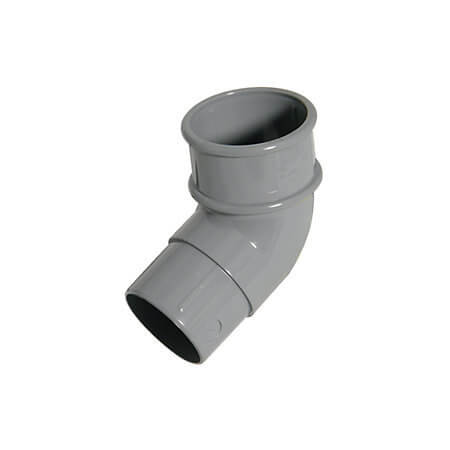 Round Downpipe Offset Bend - 112.5 Degree x 68mm Grey