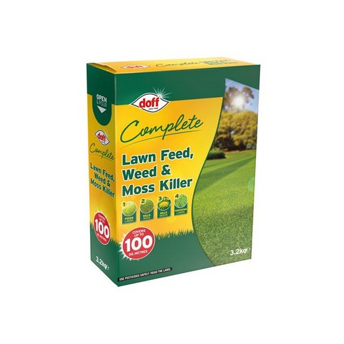 DOFF LM100 Complete Lawn Feed, Weed & Moss Killer 3.2kg