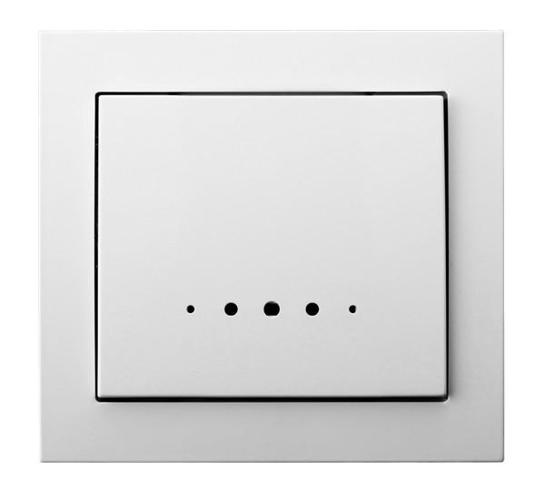 White with Light Single Button Indoor Light Switch Click Wall Plate