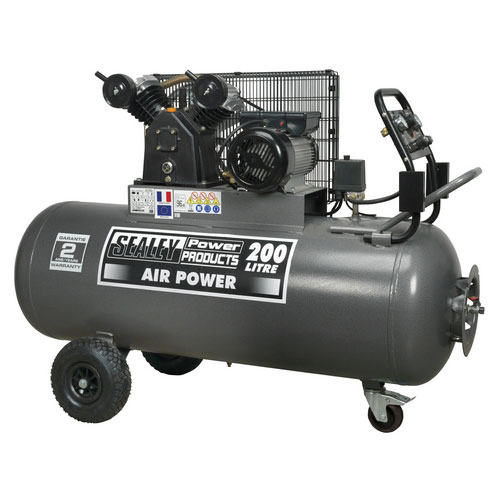 Sealey SAC3203B 200ltr Belt Drive Compressor 3hp With Front Control Panel
