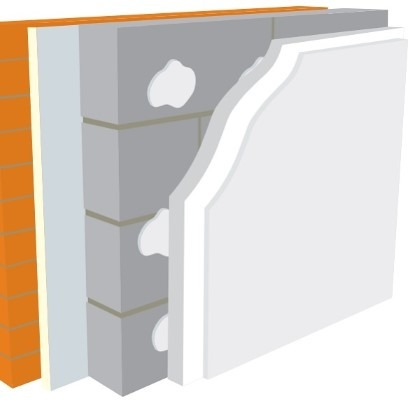 Warmline EPS Insulated Plasterboard 2400mm x 1200mm x 50mm SE - Pallet of 20 (57.6m2)