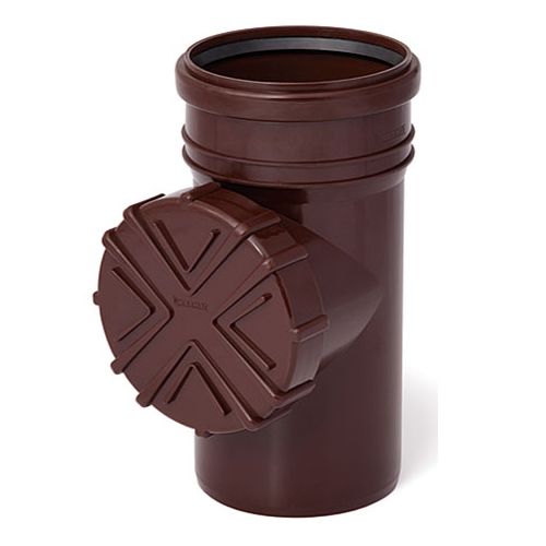 110mm Brown Gutter Pipe Flush System Cleanouts with Strainer