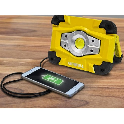 Faithfull Power Plus FPPSLFF10WR Rechargeable Work Light with Magnetic Base 10W