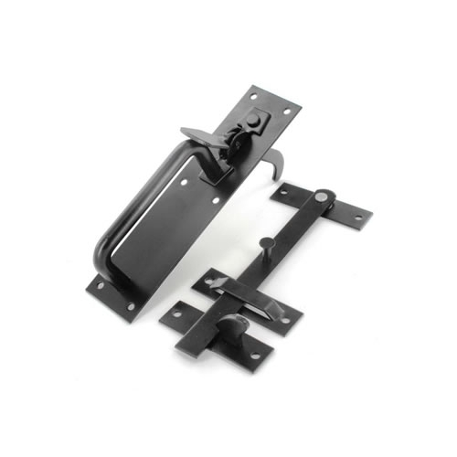 Securit S5135 Suffolk Latch Black 180mm Pack Of 1
